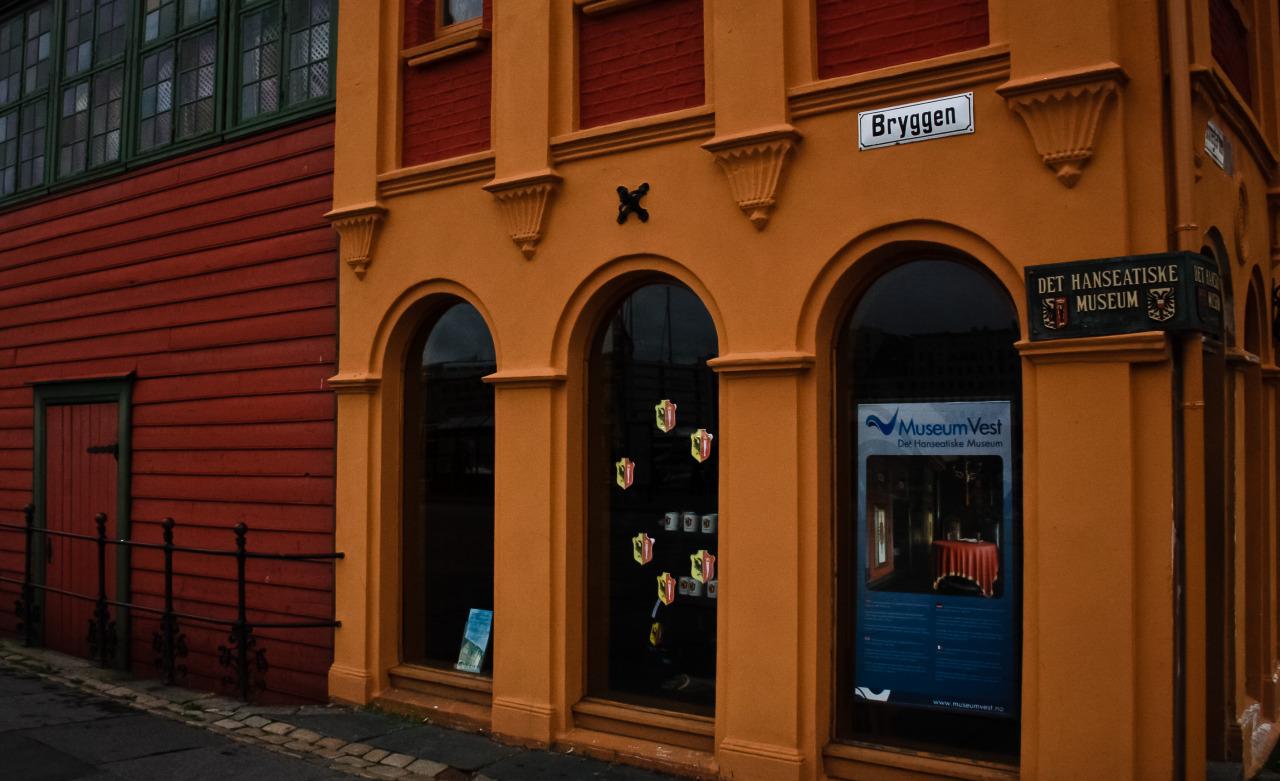 Набережная Брюгген (Bryggen). Берген, Норвегия