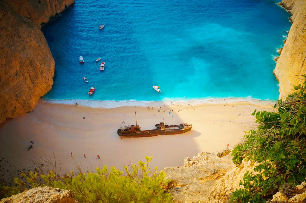 Бухта Навагио, остров Закинф, Греция
