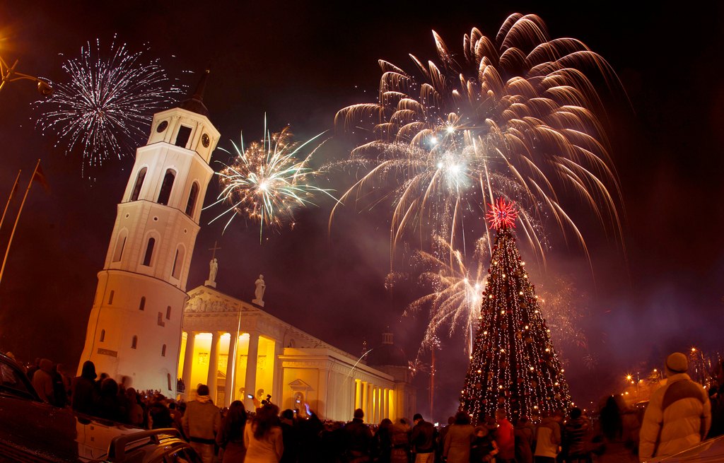 Новый год в Вильнюсе 2015
