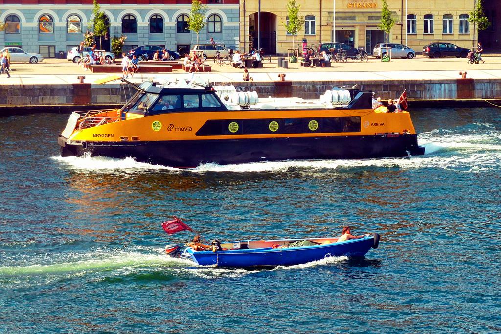 Прогулка на морском автобусе в Копенгагене