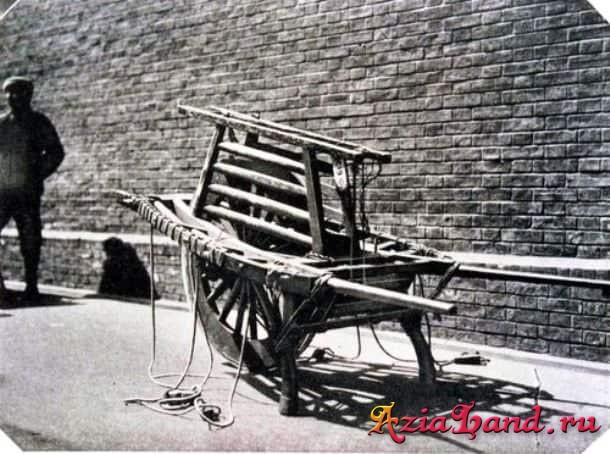 строительная тачка времен постройки Великой Китайской стены