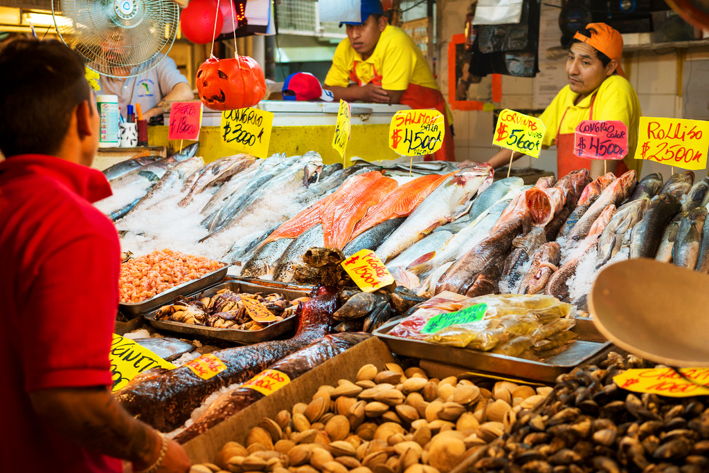 Рынок Меркадо в Сантьяго, Чили