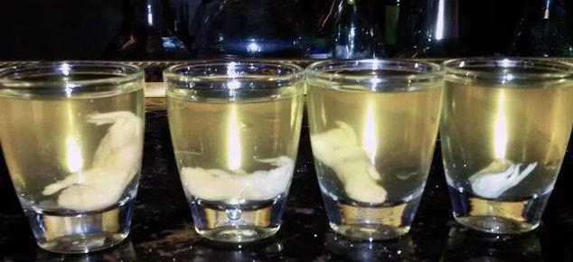 Рисовая водка на мышах - форма подачи