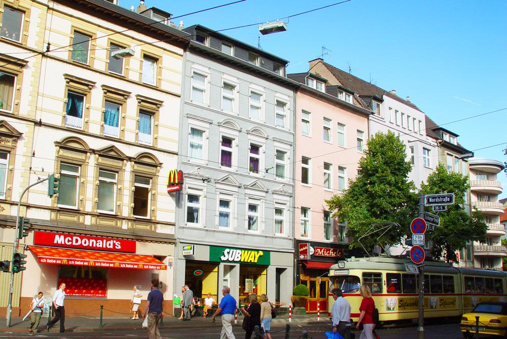 Нордштрассе в Дюссельдорфе