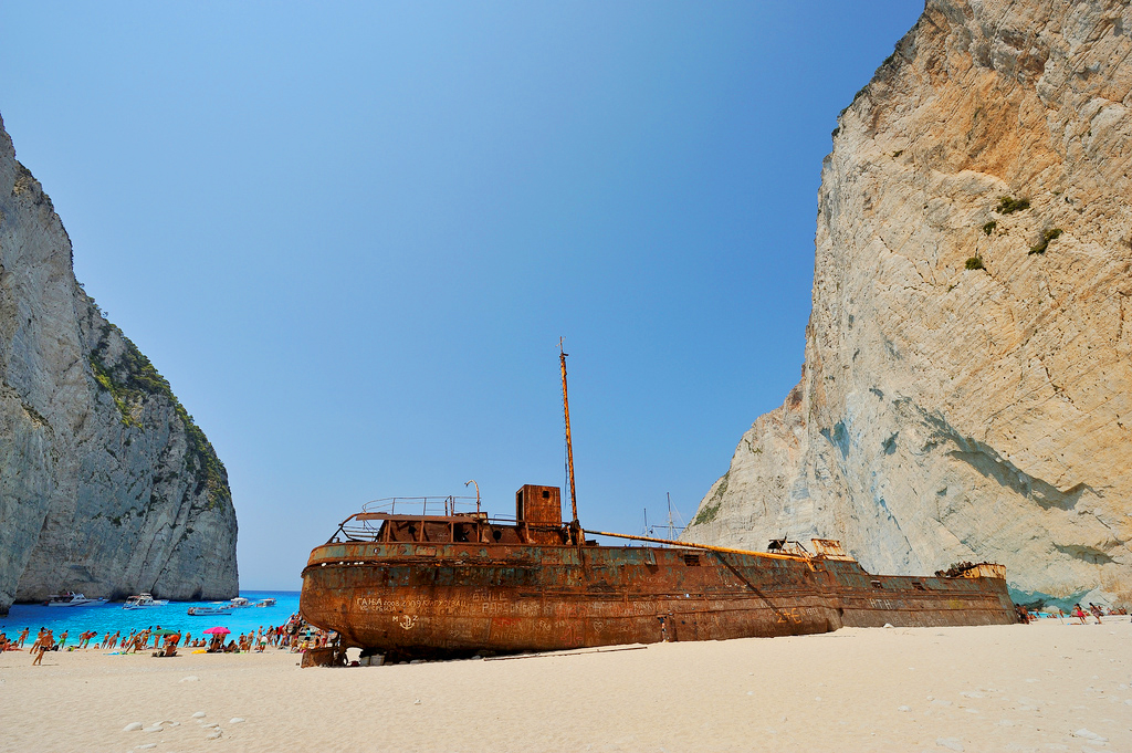 """Пляж Навагио и судно """"Панайотис"""""""