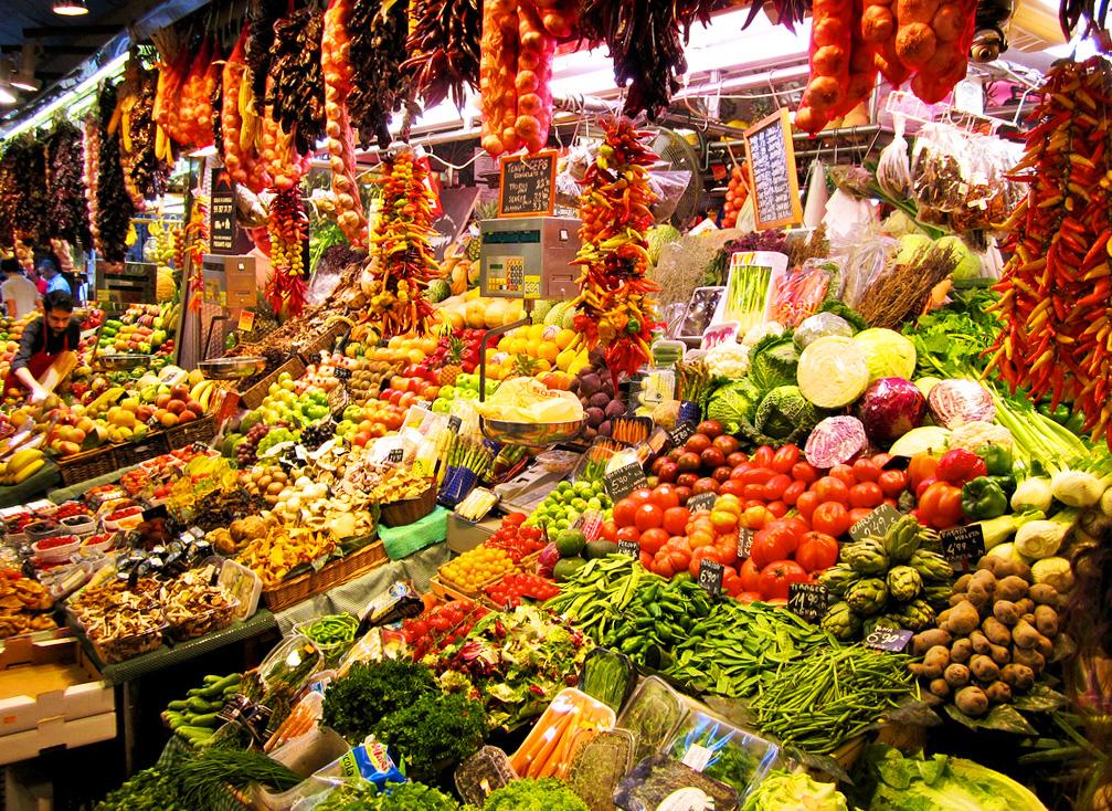 Городской рынок Бокерия в Барселоне