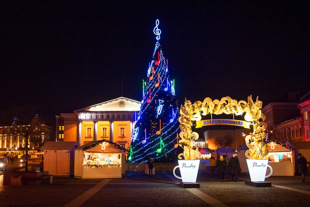 Рождественский городок с «Paulig» на Ратушной площади