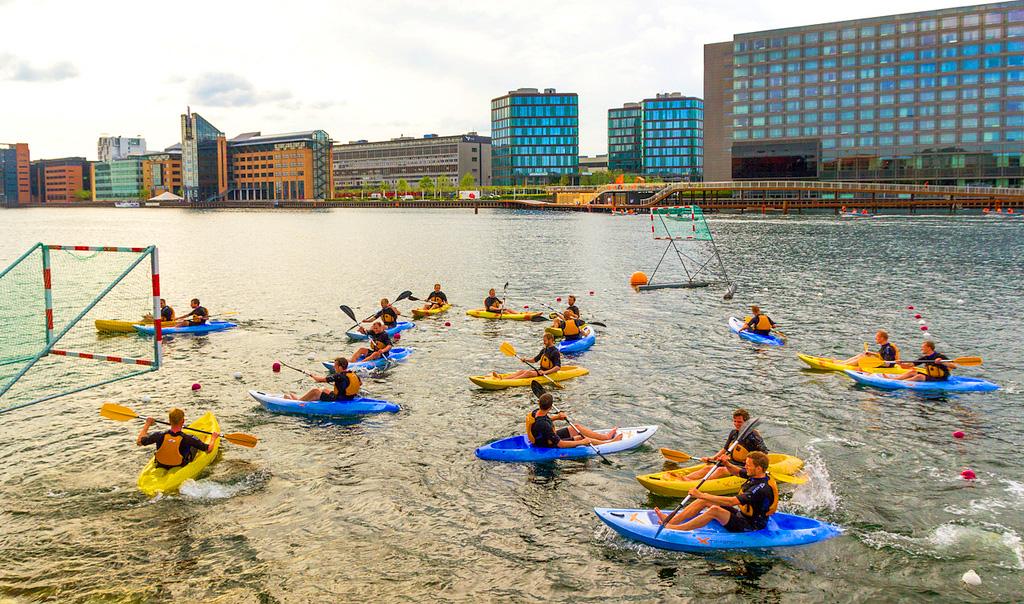 Игра в водное поло в Копенгагене