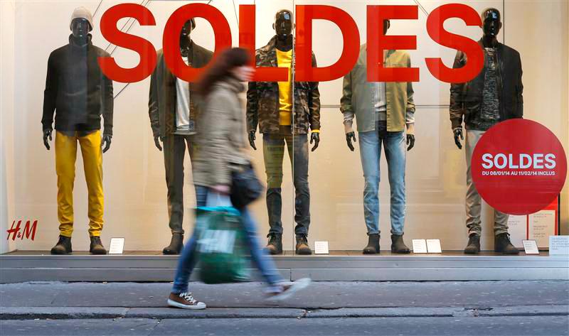 Распродажи во Франции 2015