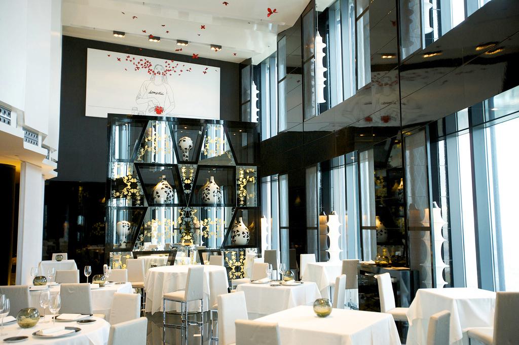 Ресторан в гостинице Eurostars Madrid Tower