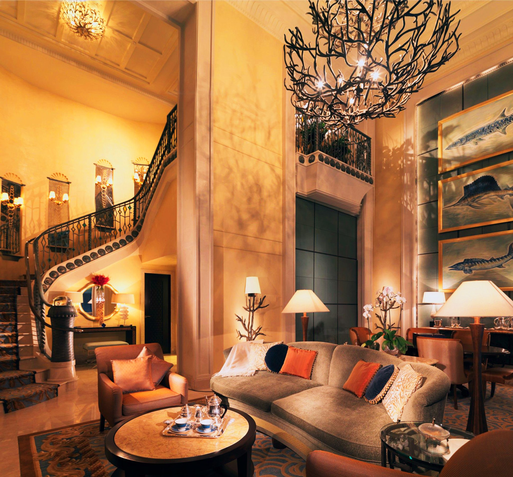 Люкс Royal Bridge Suite в отеле Atlantis The Palm, Дубаи
