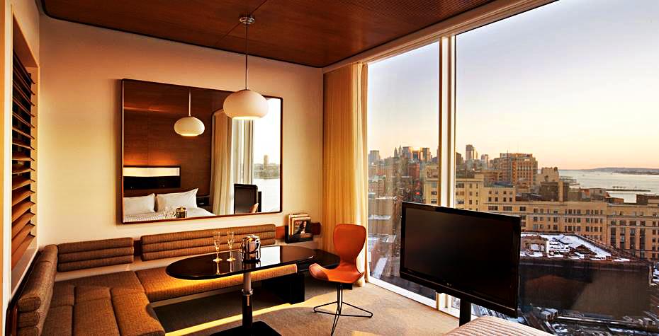 Апартаменты в гостинице The Standard, High Line в Нью-Йорке