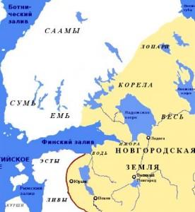 Правление Московского княжества и Швеции в Приладожье