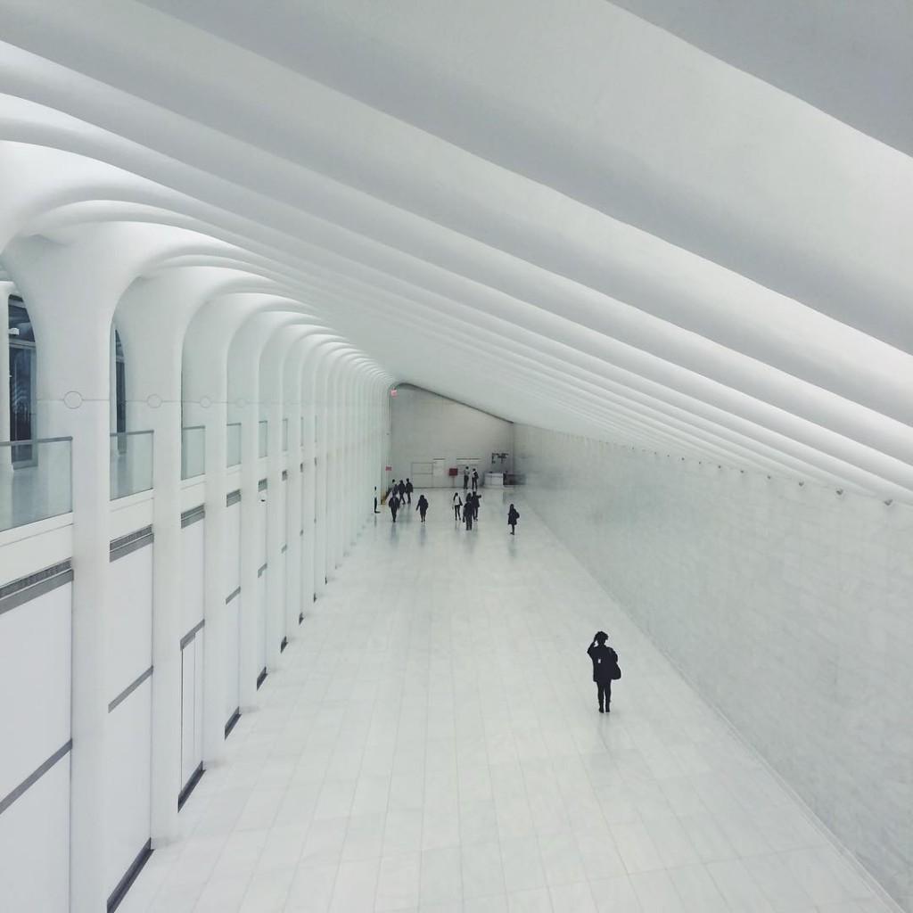 Использование пространства в вокзале Oculus