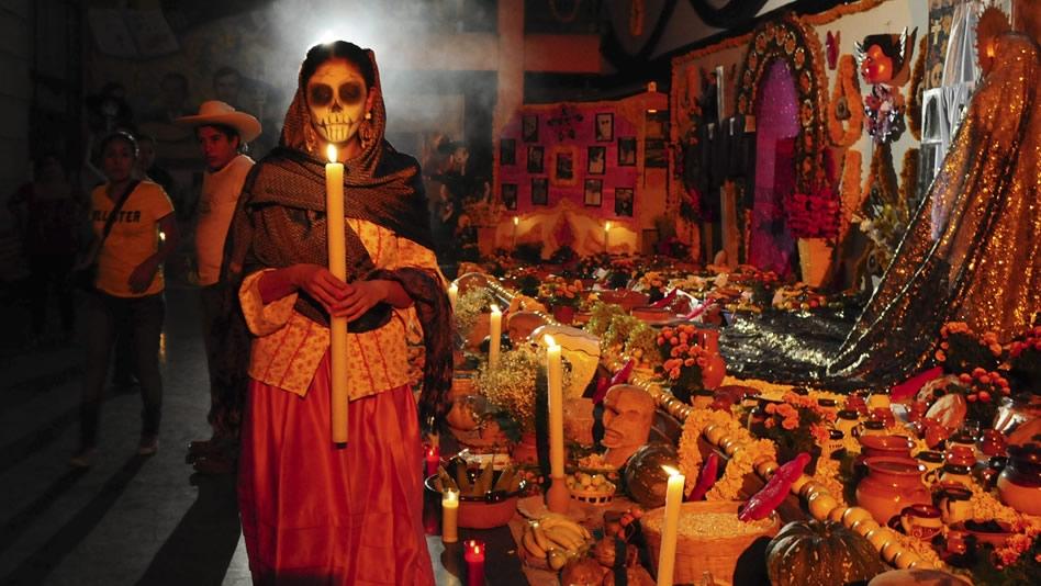 Кладбище на Dia de los Muertos