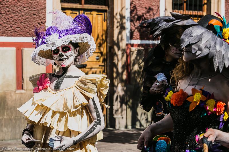 Костюмы на Dia de los Muertos