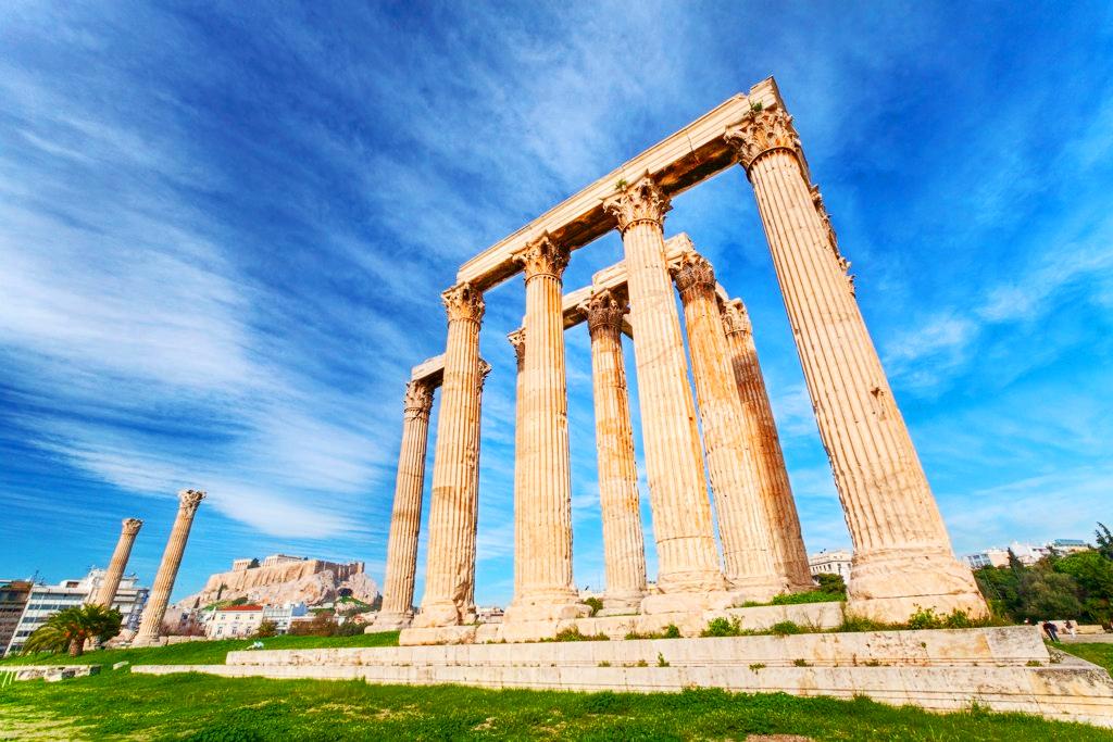 Храм Зевса Олимпийского, Афины, Греция