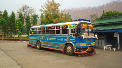 Туристические автобусы в Тайланде