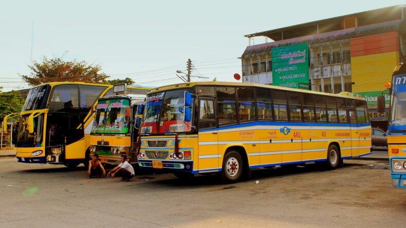 Рейсовые автобусы в Тайланде