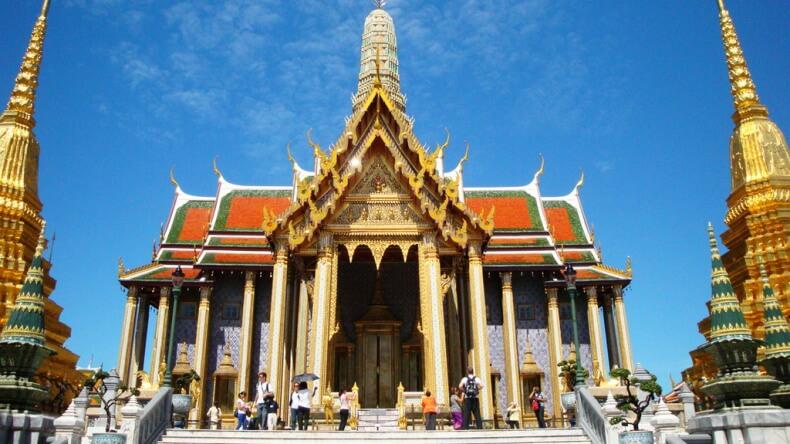 Prasat Phra Thep Bidon в Королевском дворце Бангкока