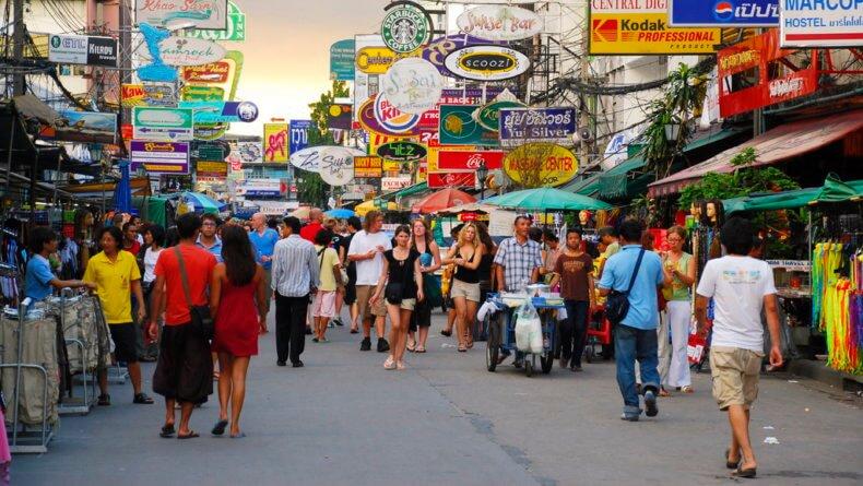 Район Бамглампху (Banglamphu) в Бангкоке