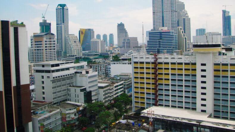 Район Силом (Silom) в Бангкоке