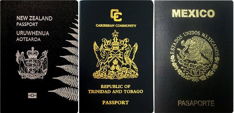 Черный цвет паспорта