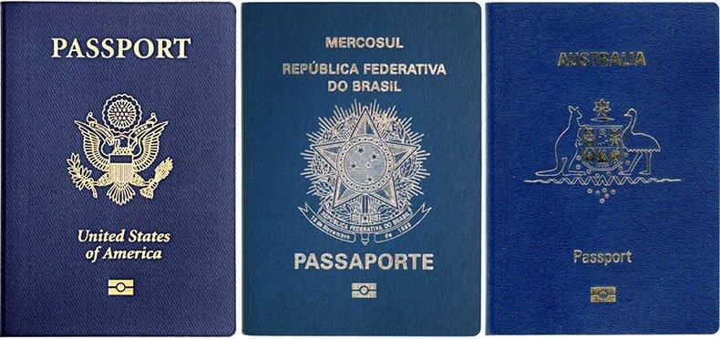 Синий цвет паспорта