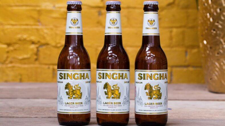 Пиво Singha в Тайланде