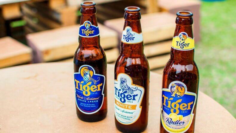 Пиво Tiger в Тайланде
