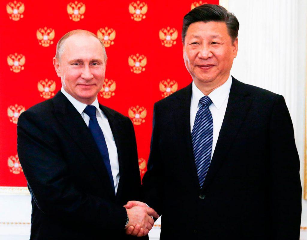 Президент-председатель-Китая-Си-Цзиньпин с Путиным