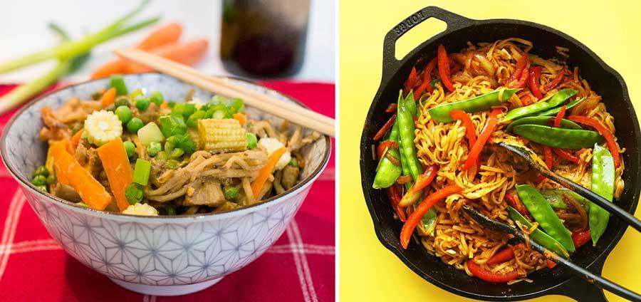 Вегетарианская китайская лапша