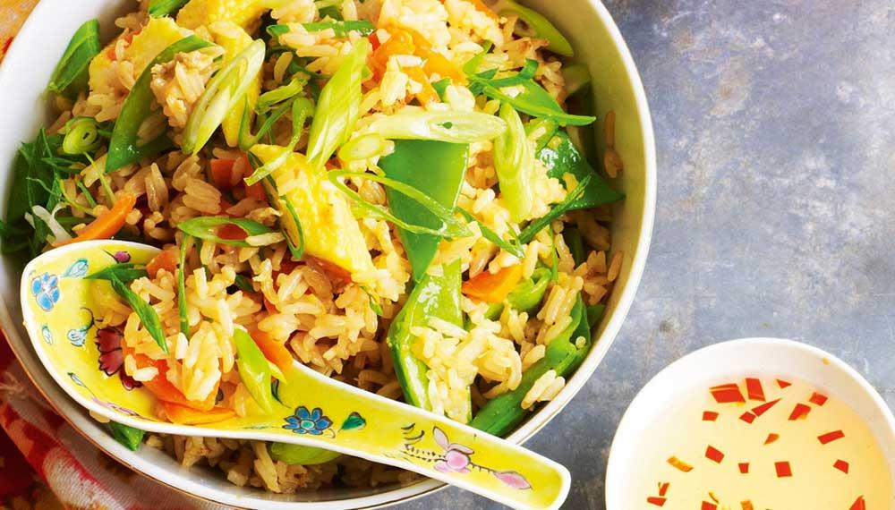 Рис с яйцом по китайски