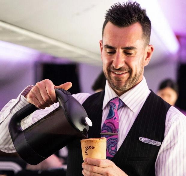 Air New Zealand будет использовать съедобные чашки